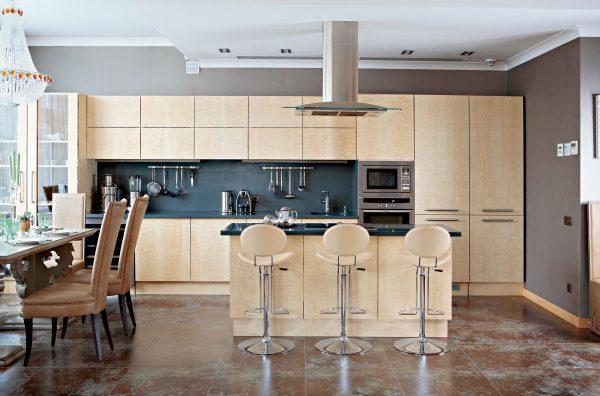 Барная стойка в кухне фото