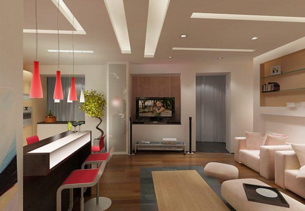 Кухня комната дизайн фото в современном стиле маленькая