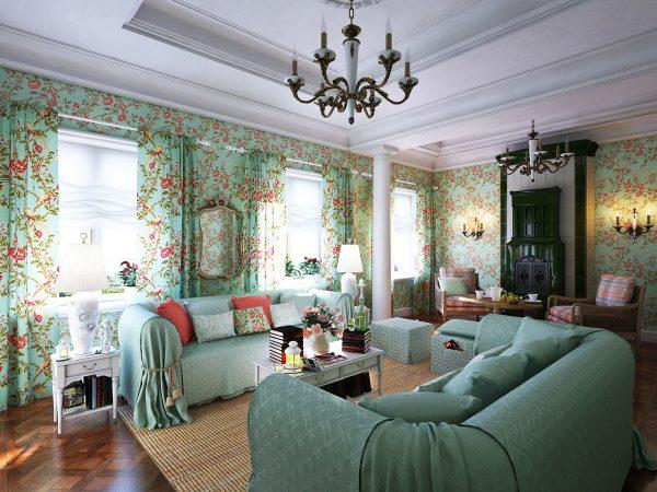 Зелёная мебель фото