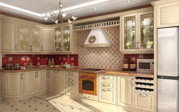 Фото кухни в цвете беж
