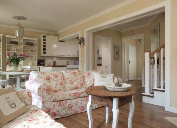 Кухня гостиная в стиле прованс — фото интерьеров