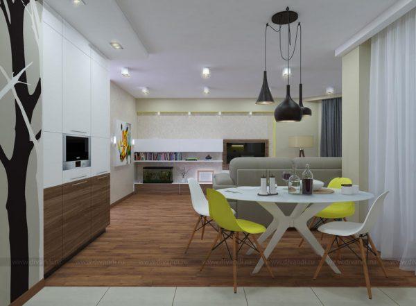 Кухня-гостиная в современном стиле (Студия интерьерного дизайна Design studio NEAPOL) — Диванди