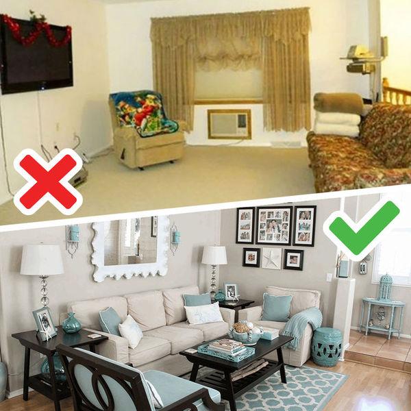 7 ошибок в интерьере гостиной: исправляем без затрат - Я Покупаю