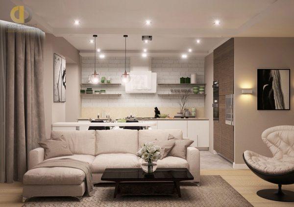 Фото дизайн-проект интерьера квартиры г. Москва, ул. Вавилова, д. 97, 86 кв.м. 126 000 руб.