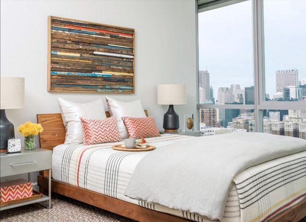 Стильное постельное белье для широких кроватей