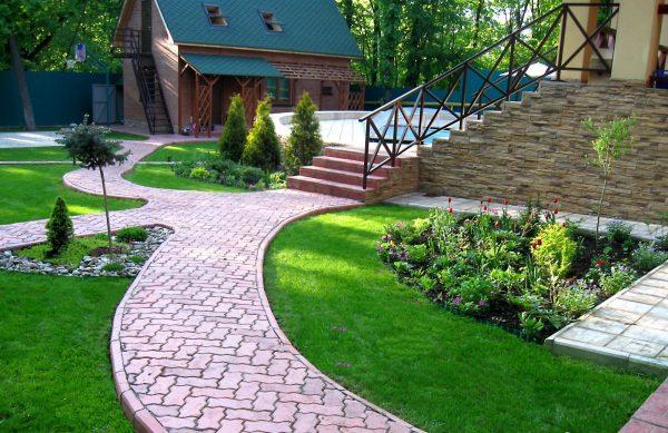 Лучший Современный Ландшафтный дизайн двора частного дома (160+ Фото). Как Красиво обустроить и украсить С…   Дизайн озеленение, Дизайн сада, Планы садового дизайна