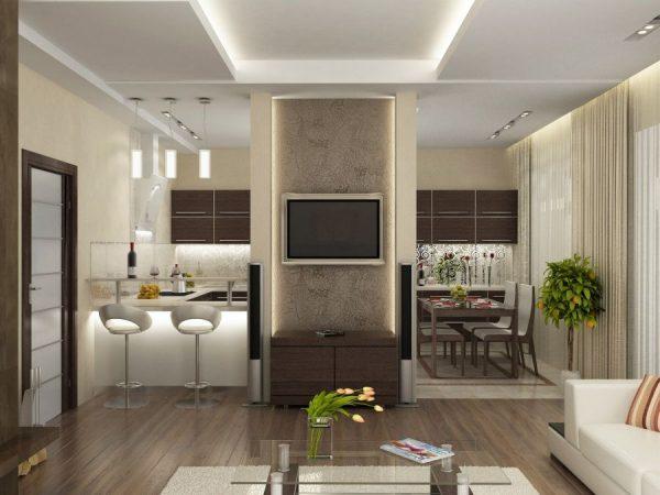 Комната-кухня фото