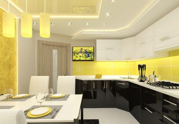 Жёлтая кухня фото