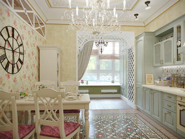 Небольшая уютная кухня-гостиная фото