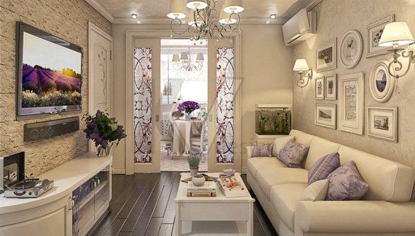 Бежевый цвет в гостиной
