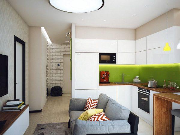 Маленькая гостиная-кухня