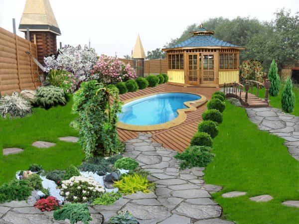 Дизайн садового участка: потрясающие идеи на 70 фото