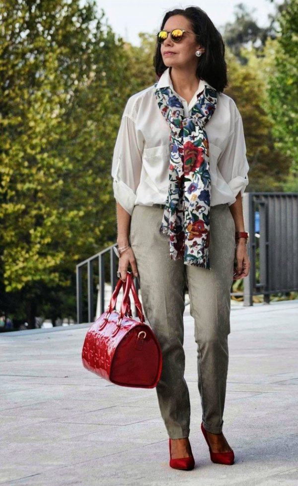 Идеи! Мода весна лето 2021 для женщин 50 лет: 77 фото